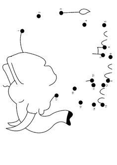 Free Online Printable Kids Games - Elephant Dot To Dot