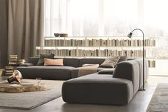 Sectional fabric sofa CLOUD by Lema design Francesco Rota