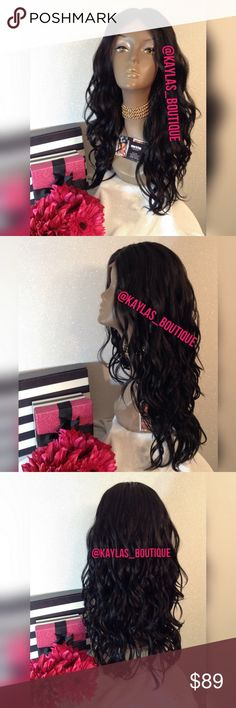 LACE FRONT WIG HUMAN HAIR BLEND APPROXIMATELY 18-20 INCHES JET BLACK MIDDLE PART WIG CAN TAKE HEAT UP TO °400 PERFECT WIG TO PUT ON & JUST GO 🎁I DO NOT TRADE AT ALL #NEVER 🎁NOT ACCEPTING OFFERS 🎁NO HOLDS 🎁PRICE IS FIRM 👑ACTUAL PHOTOS OF MY PRODUCT & MY WORK NO SCREENSHOTS NO STOCK PHOTOS  📣I DO NOT TRADE📣  💌SHIPPING POLICY :SAME DAY SHIPPING IF PURCHASED BEFORE 12PM MONDAY | SATURDAY . DELIVERY TIME :2-3 BUSINESS DAYS Accessories Hair Accessories