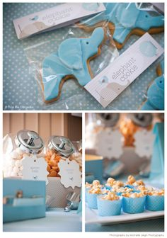 """Baby Shower--Dessert table. Pop corn in muffin liners--esp. for a """"Ready to Pop"""" theme."""