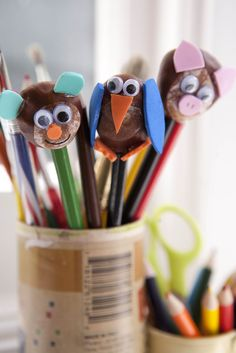 Kids Get Crafty: Chestnut Crafts (Pencil Toppers) - Red Ted Art - Make crafting with kids easy & fun Diy And Crafts Sewing, Crafts For Girls, Crafts To Sell, Kids Crafts, Conkers, Pencil Toppers, Rolex Submariner, Dinner Recipes For Kids, Craft Videos