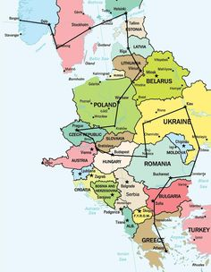 Eastern Europe Travel Itinerary..i mean, we're not doing eastern europe..but need a map like this!