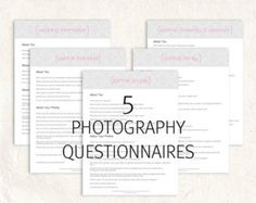 Forms And Contracts Set For Photographers Model Release Print