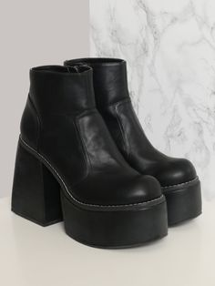 """<p>9"""" Shoe Height </p><br /> <p>2"""" Platform Height </p><br /> <p>5"""" Heel Height </p><br /> <p>100% Man Made Materials </p><br /> <p>Measurements taken from a size Small </p>"""