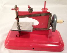 French Toy Sewing Machine 40s/50s by PattiandCo on Etsy