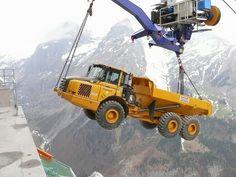 Top heavy equipment accidents caught on tape most horrible excavator tru...