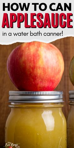 Applesauce is one of the easiests things to can in a waterbath canner. It's an easy recipe that's perfect for beginning food preservers. Here's how to can applesauce at home, with no added sugar. Canning Applesauce, Homemade Applesauce, Pressure Canning Recipes, Canning Tips, Frugal Meals, Easy Meals, Canning Peaches, Canning Vegetables, Healty Dinner