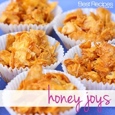 golden corn flakes covered in honey, its no wonder they're called Honey Joys. #recipe #cornflakes #kidsrecipe #fete