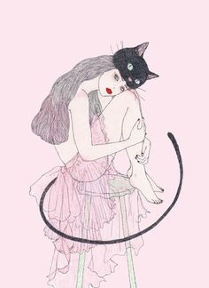 Find images and videos about pink, black and art on We Heart It - the app to get lost in what you love. Art And Illustration, Pattern Illustration, Illustrations And Posters, Doodle Drawings, Doodle Art, Person Drawing, Collages, Drawing Projects, Pretty Art