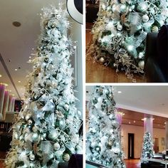 White and silver Christmas trees for hire. Our white and silver Christmas trees can be hired around the UK. Luxury Christmas Tree, Silver Christmas Tree, Christmas Tree Design, Christmas Trees, Commercial Christmas Decorations, Holiday Decor, Home Decor, Xmas Trees, Decoration Home