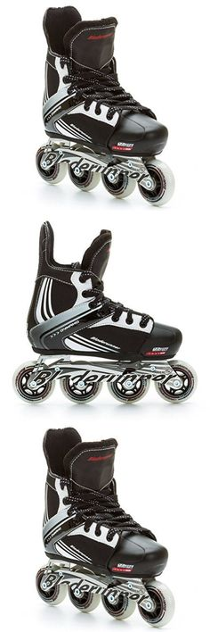 Other Inline and Roller Skating 1301: Bladerunner Kids Dynamo Adjustable Hockey Skate With 64Mm Wheels Black White Siz -> BUY IT NOW ONLY: $189.99 on eBay!