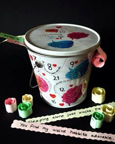 #Valentinesday #AnniversaryGifts #WeddigGifts #Couplegifts #Iloveyou 100 reasons basket #smghut #romanticgift