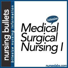 Nursing Bullets: Medical-Surgical Nursing Part I | Nurseslabs | December 2012 NLE Results. Check out that cool T-Shirt here: https://www.sunfrog.com/Funny-nurse-T-Shirt-Black-Ladies.html?53507