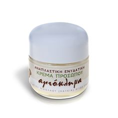 Hydrating Face Cream - Honeysuckle suitable for all skin types. The almond oil that it contains has an extremely effective action in the area around the eyes where wrinkles and dark circles are created. A 100% natural product of Mount Athos / Ενυδατική κρέμα προσώπου που δρα εξαιρετικά αποτελεσματικά στην περιοχή γύρω από τα μάτια όπου δημιουργούνται ρυτίδες, μαύροι κύκλοι και χαλάρωση. Παρασκευάζεται στο Άγιο Όρος και είναι 100% φυσικό προϊόν