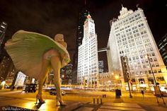 David Mayhew Photography | Wrigley Building | Marilyn Monroe | Chicago