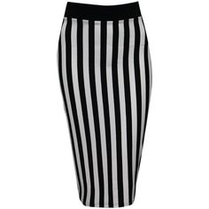 Jane Norman Vertical stripe midi tube skirt by None, via Polyvore