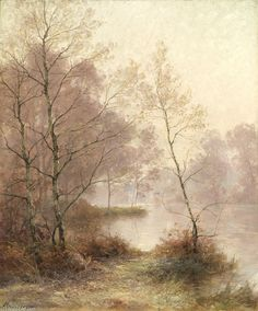 Paysage à L etang de Albert Gabriel Rigolot (1862-1932, France)
