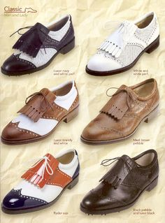 How a proper golf shoe should be. Timeless, impeccably manufactured and comfortable. Mine are the luxor brandy/white.