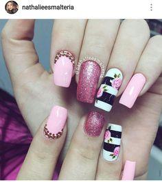 Nails Design, Cute Nails, Nail Art, Makeup, Hair, Top, Beauty, Nail Designs, French Tips