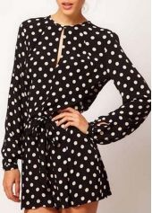 20ed1cd6ee1 Pretty Long Sleeve Round Neck Mini Rompers for Woman Short Jumpsuit