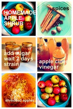 Apple cinnamon shrub is fabulous in soda water or ginger beer, and also a great cocktail ingredient. Great with vodka, rum, whiskey, applejack drinks Amy Stewart, Cocktail Ingredients, Ginger Beer, Cinnamon Apples, Fun Drinks, Shrubs, Rum, Vodka, Spices