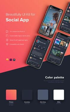 Buy ZINGO - Social UI Kit for Mobile App by hoangpts on ThemeForest. This kit includes is a high quality pack of social app screens for iPhone X with trendy useful components that yo. Design Android, App Ui Design, Interface Design, Mobile App Design, Mobile App Ui, Mobile Mockup, Ui Design Tutorial, App Design Inspiration, Design Websites
