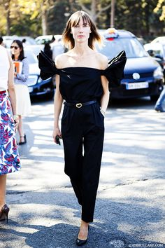 Anya Ziourova #fashionweek #streetstyle