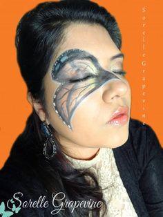 Halloween butterfly mask look