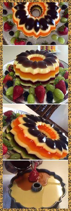 Jello Desserts, Jello Recipes, Cold Desserts, Sweet Desserts, No Bake Desserts, Mexican Food Recipes, Sweet Recipes, Dessert Recipes, Mini Caramel Apples