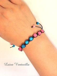Schamballa Armband mit Polaris Perlen von Luisa Ventocilla Shop auf DaWanda.com