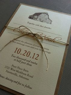 Rustic Barn Wedding Invitations By Lemoninvitations Great Idea For A Invitation If You Are Looking Venue Take L