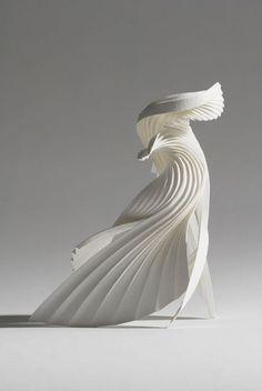 Kirigami, Abstract Sculpture, Sculpture Art, Paper Sculptures, Surrealism Sculpture, Urbane Kunst, Arte Fashion, 3d Studio, Paper Folding