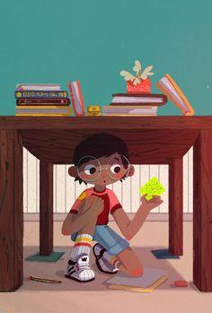 Illustration - Welcome to Beatrice Blue's Portfolio Cute Little Drawings, Cute Drawings, Cartoon Design, Cartoon Art, Children's Book Illustration, Character Illustration, Character Art, Character Design, Creative Artwork