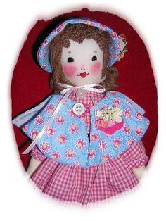Little Old Fashion Girl Edith Flack Ackley Doll-EFA