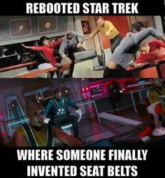 Star Trek - with seat belts! Star Trek Voyager, Star Trek Tos, Star Wars, Starship Enterprise, Star Trek Universe, Love Stars, Marvel, Arcade, Nerdy