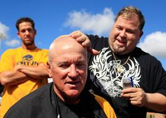 Tampa Bay Rays players, coaches, executives get heads shaved for charity Team Bonding Activities, Rays Baseball, Sport Park, Tampa Bay Area, Make Me Smile, Shaving, Charity, Coaching