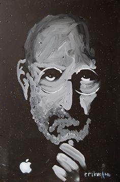 Steve Jobs Painting by Erik Wahl