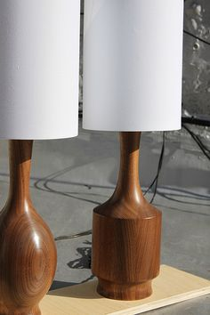 Walnut Lamps by Ben Light. My absolute favorites.