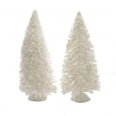 Set di 2 alberi Bianco per la creazione di un villaggio