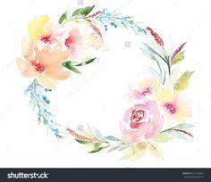 stock-vector-watercolor-greeting-card-flowers-handmade-congratulations-297760082.jpg (1500×1300)