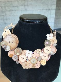 Your place to buy and sell all things handmade Button Jewellery, Button Necklace, Jewelry, Etsy Crafts, Buy And Sell, Necklaces, Handmade, Stuff To Buy, Fashion