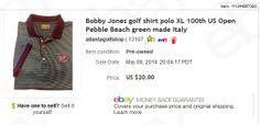Bobby Jones golf shirt - $2 at garage sale, sold for $20.