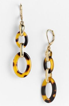 AK Anne Klein 'Belden Place' Double Link Earrings available at Nordstrom - Women's style: Patterns of sustainability Moon Earrings, Statement Earrings, Handmade Necklaces, Handcrafted Jewelry, Witch Jewelry, Moon Jewelry, Ethnic Jewelry, Anne Klein, Artisan Jewelry