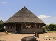 pictures of homes in africa | Houses of the Alaba Peoples Near Kulito, Rift Valley, Ethiopia, Africa ...