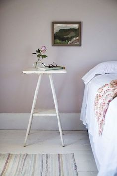 In her children's summer bedrooms, Julie paired Farrow & Ball's lavender-gray Peignoir and minty Cromarty with other outside-the-box pastels. See more at Cape Cod Summer Bedrooms Refreshed with Farrow & Ball Paint. Photograph by Justine Hand. Decor, Farrow And Ball Bedroom, Summer Bedroom, Room Colors, Bedroom Refresh, Bedroom Paint, Bedroom Green, Bedroom Paint Colors, Bedroom Colors