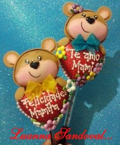 Holiday Crafts, Holiday Decor, Miguel Angel, Pasta Flexible, Cute Bears, Diy And Crafts, Valentines Day, Barbie, Dolls