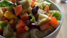 طريقة عمل سلطة الخرشوف مع الخضراوات - Artichoke and veggies salad recipe