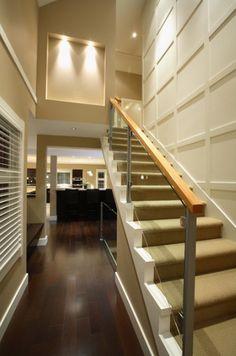 horizontal wood paneling at staircase - Google Search