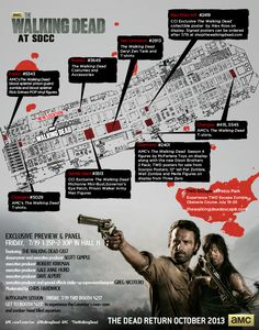 The Walking Dead - Comic Con 2013 Map Schedule