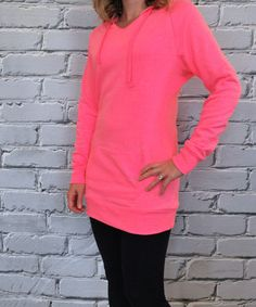 Another great find on #zulily! Olivia & Jane Hot Pink Tunic Hoodie by Olivia & Jane #zulilyfinds